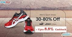 Flat 30% to 80% off on men sport shoes @Snapdeal  get upto 8.8% extra cashback from us >> http://ift.tt/1QrGExj  #shoes #menshoes #snapdeal  #sportshoes #snapdeal #snapdeloffers #valentines #valentinesday #gifts #cashback #cashbackoffers