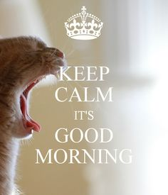 KEEP CALM IT'S GOOD MORNING