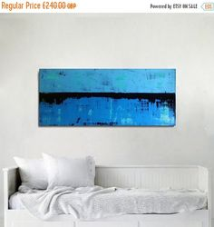 120x50cm The canvas is 2 cm / 0.7 inch deep. FREE SHIPPING to Europe (Due to the size of this painting is it not possible to ship to the USA or