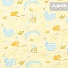 jubelis® abwaschbare Tischdecken Kindermotiv Elefant gelb und Hellblau