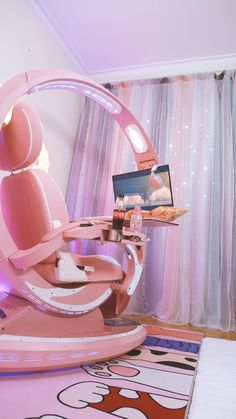 Anything interesting you guys do on a Thanksgiving Wishing you all a Happy Thanksgiving through a short fun video and Welcome to a pink world from a lovely OTAKU - Ingerem Coding Pod 2 0 Pink setup Cute Room Ideas, Cute Room Decor, Study Room Decor, Girl Bedroom Designs, Room Ideas Bedroom, Pink Bedroom Design, Girls Bedroom, Bedroom Decor, Awesome Bedrooms