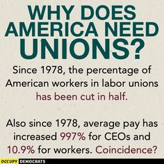 The flood of illegal immigration, creating overload of cheap labor (supported by unions through Democrats) is a problem of their own making. Bernie Sanders, Labor Union, Social Justice, Economics, Food For Thought, In This World, Wisdom, Let It Be, Thoughts
