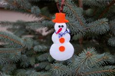 Christmas tree decoration  snowman ginger man Christmas by dinadze, $28.00