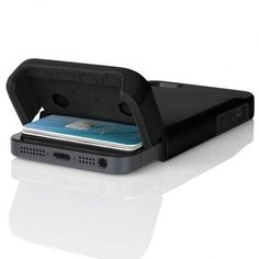 iPhone 5 Stashback Case Cover Wallet for iphone 5 - Black iphone 5 wallet case