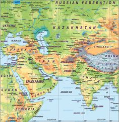 Map of Middle East (Asia) - Map in the Atlas of the World - World Atlas