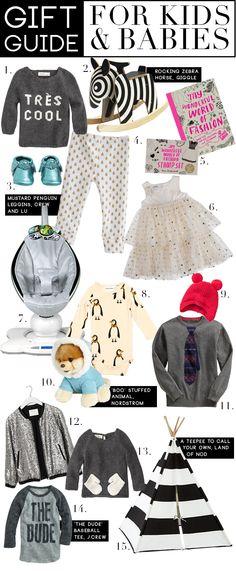 Gift Guide: Kids  Babies