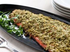 Salmon with Parsley-Horseradish Crust