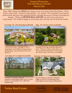 For more information on any of these properties call Netter Real Estate at 631-661-5100