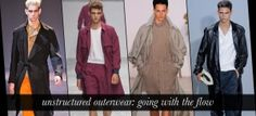 Unstructured outerwear: spotlight on a light spring