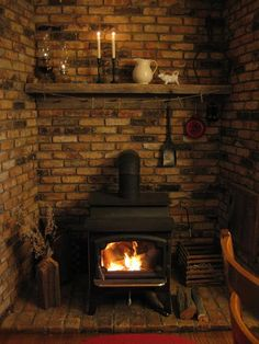 is there a way to do this around the woodstove?