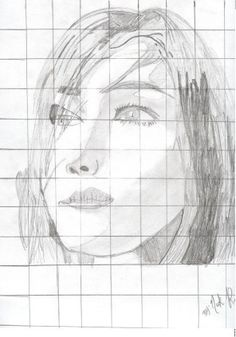 Portrait Drawing, Grid System. Learn How to Draw: Drawing Lessons for Kids: KinderArt ® Elementary School Art Education