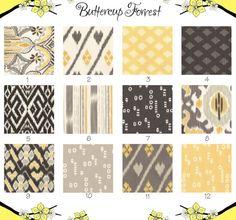 Crib Sheet -- Grey Yellow Ikat Gray Charcoal  Diamond -- Maasai Mara Yellow Gray Collection