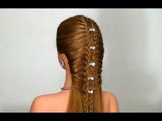 Легкая прическа на каждый день! Easy hairstyle for every day - YouTube