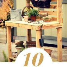 10 Pallet Furniture Projects That Help You Get the Most of Your Lawn Pallet Door, Pallet Shed, Pallet Crates, Wood Pallet Signs, Wooden Pallets, Wood Signs, Recycled Pallets, Recycled Wood, Pallet Furniture