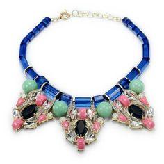 Multicolored Statement Necklace Bib
