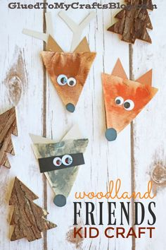 Burlap Woodland Friends Gift Tags Made From Pendant Triangles Burlap Woodland Creatures – Kid Craft – Glued To My Crafts Forest Animal Crafts, Ocean Animal Crafts, Forest Crafts, Animal Crafts For Kids, Fall Crafts For Kids, Toddler Crafts, Kids Crafts, Art For Kids, Forest Animals