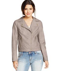 American Rag Stitched Faux-Leather Moto Jacket, Only at Macy's