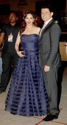 #RedCarpet!  #MadhuriDixit with her better half