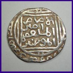 Sher Shah Suri Silver Tanka / Rupee - Suri Dynasty of Delhi Sultanate Antique Coins, Old Coins, Delhi Sultanate, Gold Money, Coins For Sale, Silver Coins, Islamic, British, Dots