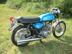Kawasaki 500 triple. Test rode one circa 1975. Nearly killed myself so decided against it