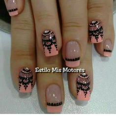 You can draw it using brush Gold Gel Nails, Shellac Nails, Love Nails, Pretty Nails, Fun Nails, French Tip Nails, French Manicures, Beautiful Nail Designs, Nail Decorations