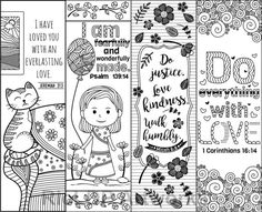 free printable coloring bookmarks | Template | Pinterest ...