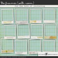 For the Love of Journaling: The Frames (with room)