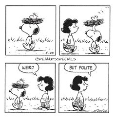 First Appearance: May 28th, 1983 #peanutsspecials #ps #pnts #schulz #snoopy #lucyvanpelt #weird #polite www.peanutsspecials.com