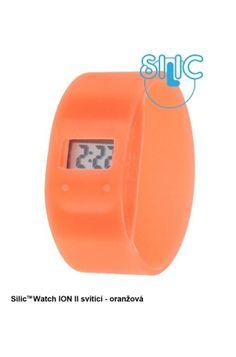 Silic Watch ION II svítící - oranžová Digital Alarm Clock, Watch, Home Decor, Clock, Decoration Home, Room Decor, Interior Decorating