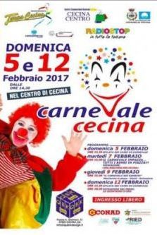 2017 - Carnevale in Cecina, Feb.5 and Feb. 12, from 2:30 p.m.; float parade, music and dancing, face-painting, entertainment for everyone; free entry.