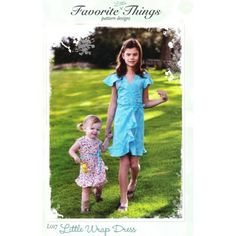 Flattering knee length wrap dress with tie closure. Flounced hemline and optional flutter sleeves add a delicate touch to this fitted A-line dress.