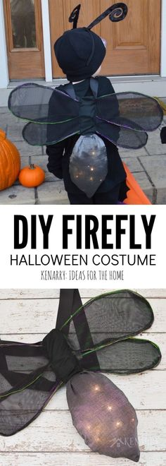 Learn how to make DIY wings for a kids firefly costume for Halloween, playing dress-up or for acting in a school or community theatre play. This sewing tutorial will show you step by step how to make lightning bug wings that really light up! Halloween Kostüm, Halloween Costumes For Kids, Halloween Dress, Firefly Costume, Bug Costume, Diy Wings, Group Costumes, Playing Dress Up, Sewing Tutorials