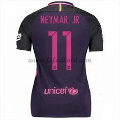 Billige Fodbold Trøjer Barcelona Dame 2016-17 Neymar Jr 11 Kortærmet Udebanetrøje