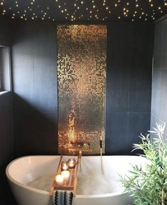This bathroom is lovely but only for inspiration.....it might be a little much all together.