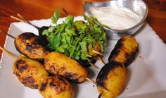 The appealing Indian flavour of tikka works beautifully with this vegetarian dish. Serve with a mango atchar and other sambals for a complete meal. South African Recipes, Side Dishes, Mango, Finger, Channel, Potatoes, Cooking Recipes, Vegetarian, Snacks