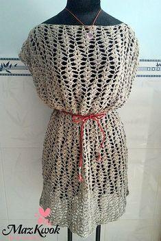 Sand Waves Oversized Dress~free #crochet pattern from #BeACrafterxD. #handmade