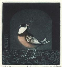 Japanese exlibris, mezzotint, artist?