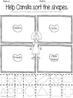 Classroom Freebies: A Bad Case of Stripes - Shape Sort