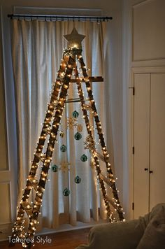 kerstboom-ladder
