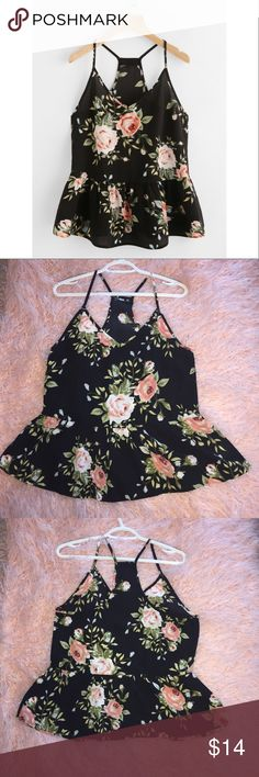 Shein Floral Tank Floral tank. Brand new without tags! Tops Tank Tops