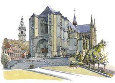 Collégiale Sainte-Waudru, Mons