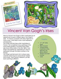 Van Gogh art lesson