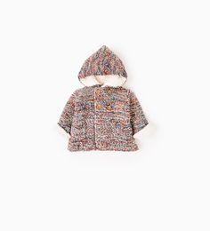 Multicoloured hooded jacket