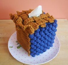 Slice of BLUEBERRY Pie Tissue Box Cozy - Made to Order via Etsy