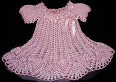 vestidos de niña tejidos a crochet | Tejidos Carmesí - Infantil