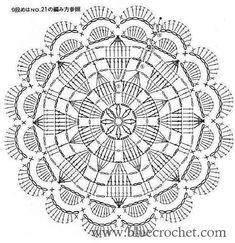 from Crochet motif Crochet Doily Rug, Crochet Doily Diagram, Crochet Mandala Pattern, Crochet Circles, Crochet Doily Patterns, Crochet Chart, Crochet Squares, Thread Crochet, Crochet Stitches