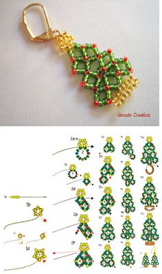 free seed bead patterns and instructions - Makeup Techniques Headlight , free seed bead patterns and instructions free seed bead patterns and instructions Seed Bead Tutorials. Beaded Christmas Ornaments, Christmas Earrings, Christmas Jewelry, Seed Bead Tutorials, Free Beading Tutorials, Beading Ideas, Motifs Perler, Beaded Necklace Patterns, Bracelet Patterns