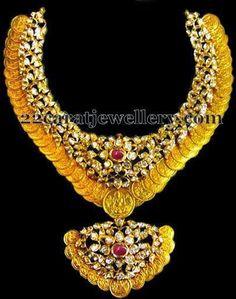 Jewellery Designs: 150 Grams Kasu Haram