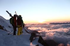 VAUDE Visions Wallpapers for free:   Moritz Attenberger - Sunset on the Mont Blanc - Chamonix