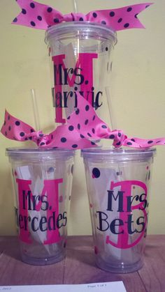 Personalized Tumblers, Teacher Appreciation, End of  year, teams, friends, moms, grads. $10.00, via Etsy.